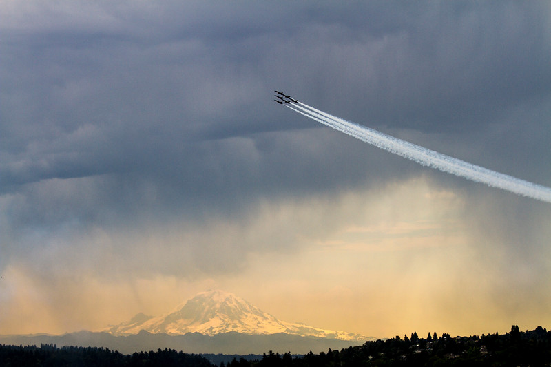 Blue Angels Fly Over Lake Washington