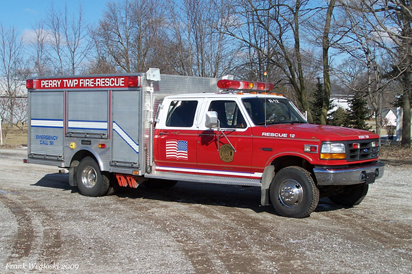 Former Rescue 12 - 1991 Ford F-450/Saulsbury Light Rescue (#291056)
