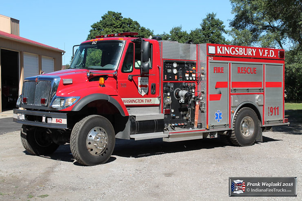 Engine 842 - 2003 International/Spencer CAFS Rescue Pumper - 1250gpm/500gal/20F