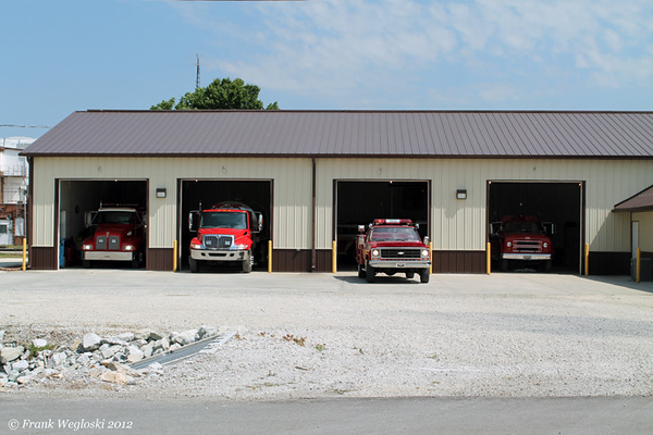 Wolcott Volunteer Fire and Ambulance Station – rear view