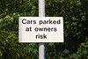 Thought this was funny not that i've ever seen any cars parked in the Car Park in all the years i been doing this line