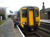 156 482 <br /> <br /> Plat 4 Helsby <br /> <br /> waiting to form 15.17 Helsby - Ellesmere Port <br /> <br /> Date 22nd Feb 2013