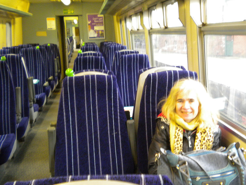 On the way to Stanlow on 15.17 Helsby - Ellesmere Port <br /> <br /> Liz was amazed that we had the whole train to our selfs <br /> <br /> Date 22nd Feb 2013 <br /> <br /> 156 482