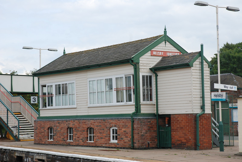 Although Helsby is unstaffed it does have a rather nice signal box dating from 1900