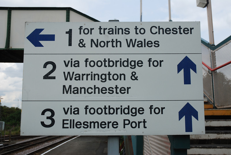 At Helsby there is a sign showing you which Platform is which Platform <br /> <br /> 3 & 4 are the Ghost Station platforms