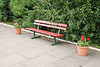 for a Ghost it was well kept as can be seen by this picture of the Bench on platform 4 with the pot plants