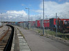 Picture by Liz <br /> <br /> This shot taken by Liz shows the Platform and as i said in the <br /> <br /> Previous shot the Secure Lorry parking compounds behind the <br /> <br /> platforms on either side