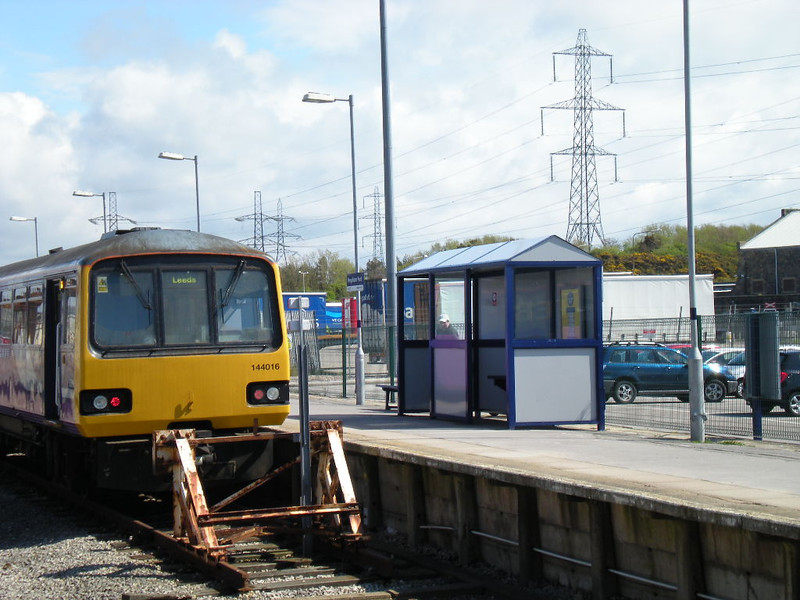 Picture by Liz: <br /> <br /> Nice side on shot by Liz that shows the Waiting shelter at Heysham Port