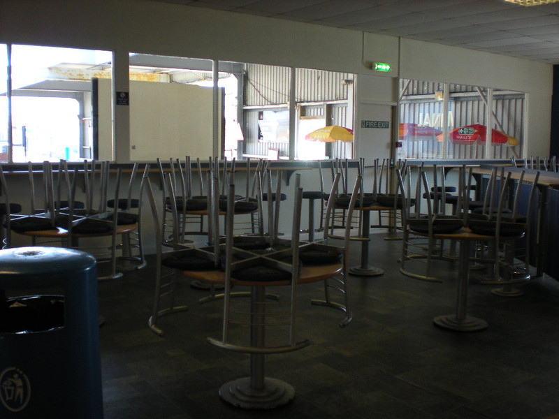 Picture by Liz <br /> <br /> The seats of the Cafe all ready to be used not that the cafe was open