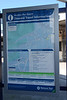 The usual onward travel poster with the map this is where i found out <br /> <br /> that there are no bus services to Heysham Port Station