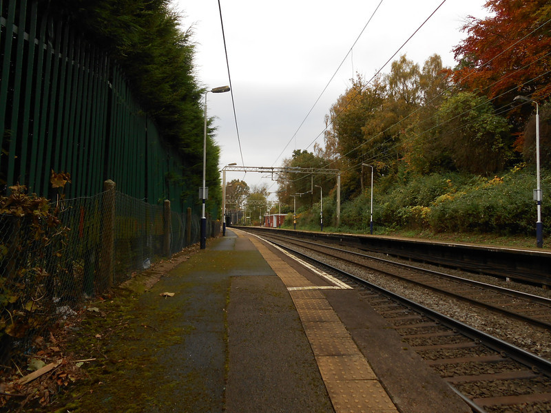 Pic by Liz <br /> <br /> Shot taken looking along the length of the Crewe Bound Platform looking towards Crewe