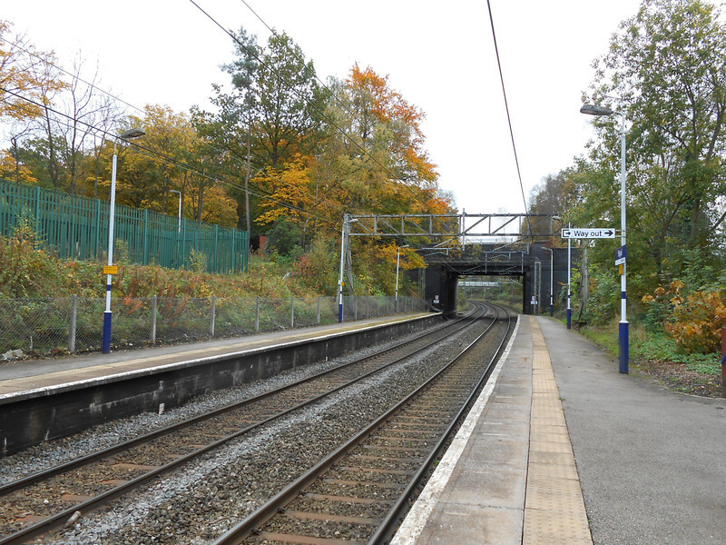 Pic by Liz <br /> <br /> Taken from the Manchester bound platform looking towards Crewe