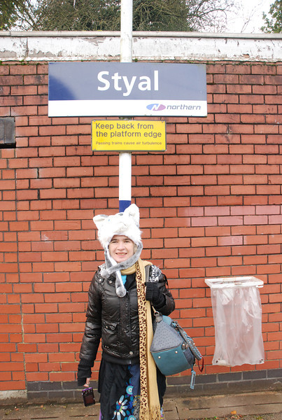 Liz was very impressed with Styal and how it seemed so quiet and <br /> <br /> rural she did remark that it must be a great <br /> <br /> habitat for birds to roost / nest etc<br /> <br /> Station # 11 in book