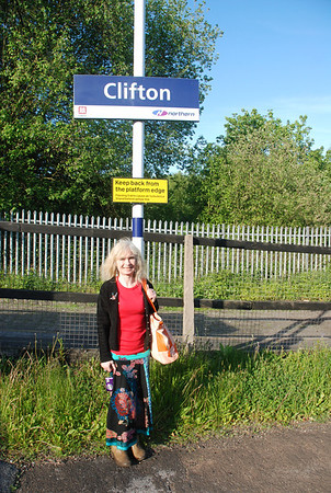 Another Ghost Station in the Book for Liz <br /> <br /> Ghost Station # 24<br /> <br /> She was well impressed with Clifton because as she said it was very <br /> <br /> quiet and isolated and you seemed to feel alone here and she <br /> <br /> couldn't  get over the amount of trains that went speeding through <br /> <br /> without stopping