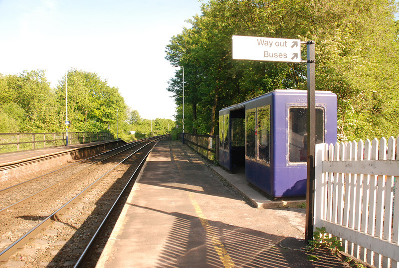 back to the Wigan bound platform to the right is the exit ramp