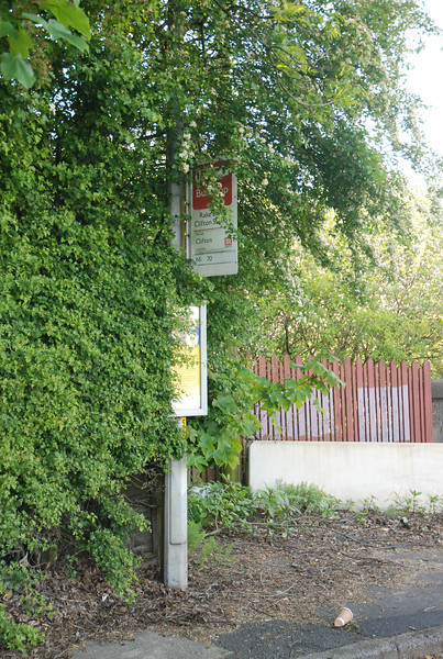 This is the bus stop that you get off at if you do the bus from Swinton but it's a classic old fashioned GMPTE sign as well which is cool