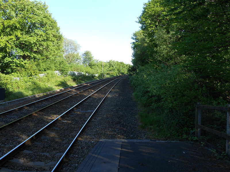 """Pic by Liz <br /> <br /> The old line to Accrington used to branch off here roughly if i'm right <br /> <br /> somewhere on the other side where that big tree is i think<br /> <br /> Also the original platforms used to extend a lot further than they do <br /> <br /> <br /> now in fact quite a way down and joined on with the Accrington Line <br /> <br /> platforms and Clifton even had a footbridge as well <br /> <br /> <br /> More info at this link that is posted though out this photo selection <br /> <br /> <a href=""""http://www.disused-stations.org.uk/c/clifton_junction/index.shtml"""">http://www.disused-stations.org.uk/c/clifton_junction/index.shtml</a>"""