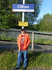 PIc by Liz <br /> <br /> After being at Clifton for just under an hour we couldn't leave with out the obligitary seminar under the station sign Ghost Station Man stands in the warm sun under the Clifton Sign on his 2nd visit