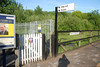 Shot taken looking back on my self from the previous shot showing the entrance gate onto the platform