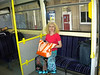 Liz on the Train waiting to Leave Manchester Victoria for Clifton<br /> <br /> Her 24th station in 7 yrs