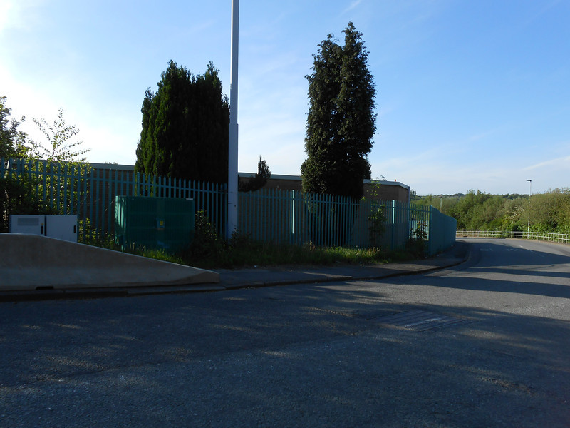Pic by Liz <br /> <br /> Looking down Rake lane the station is to her left the road carrys on around the corner to an Industrial estate