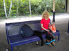 Liz relaxes waiting for the <br /> <br /> 19.35 Man Vic - Wigan Wallgate <br /> <br /> 19.48 off Swinton