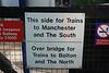 Train info board on the Manchester Bound Platform