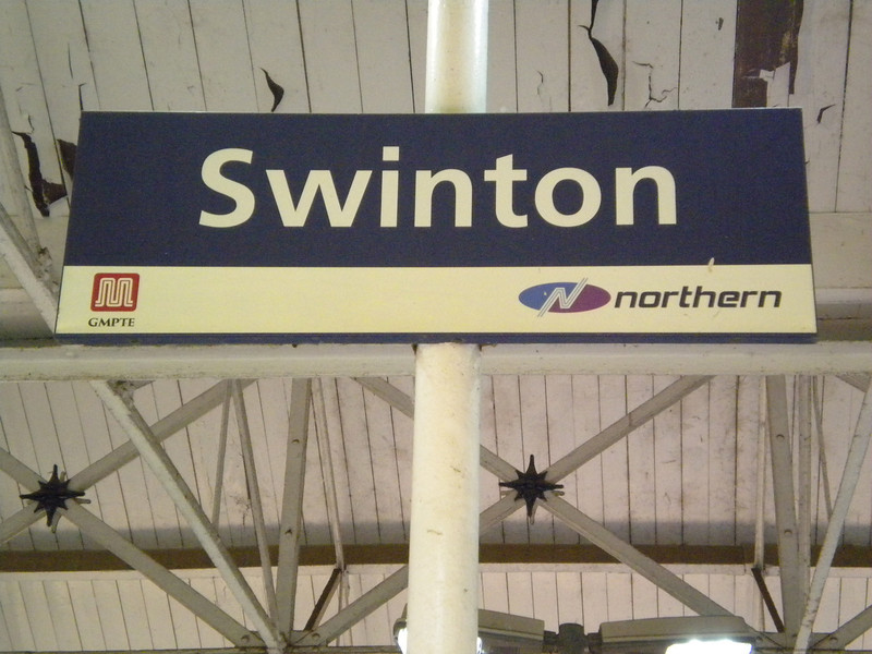 We walked back to Swinton that if you need to know took just <br /> <br /> Over 30 mins at a sedate pace <br /> <br /> But we arrived here at 19.19 and the next train to Wigan wasn't till <br /> <br /> 19.48 which was a bummer a bit