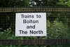 The information sign on the Bolton Bound Platform