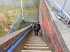 pic by Liz <br /> <br /> Ghost Station Man makes his way down the steps