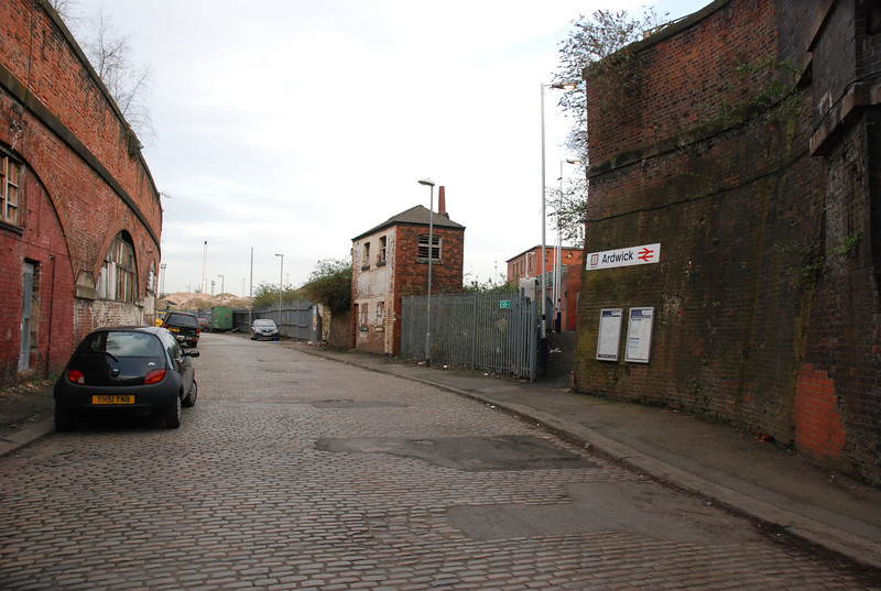 Another pic taken from Blind Lane but from a different angle showing <br /> <br /> the various business premisies in the railway arches mostly garages