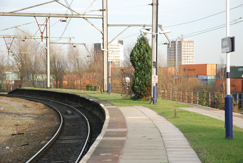 shot showing the bottom end of the Platform one thing that<br /> <br />  i'm curious about is that theres a small grave to a cat i think it is just <br /> <br /> where the do not trespass sign is if anybody knows anything about it <br /> <br /> i'd love to know.
