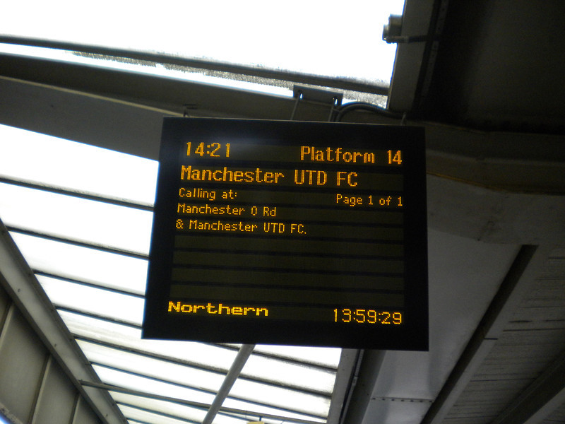 Platform Indicator on plat 14 at Manchester Piccadilly