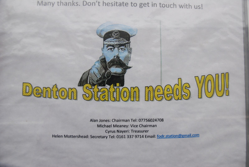 Thought this was well cool just had to get a picture of this Freinds of Denton Station