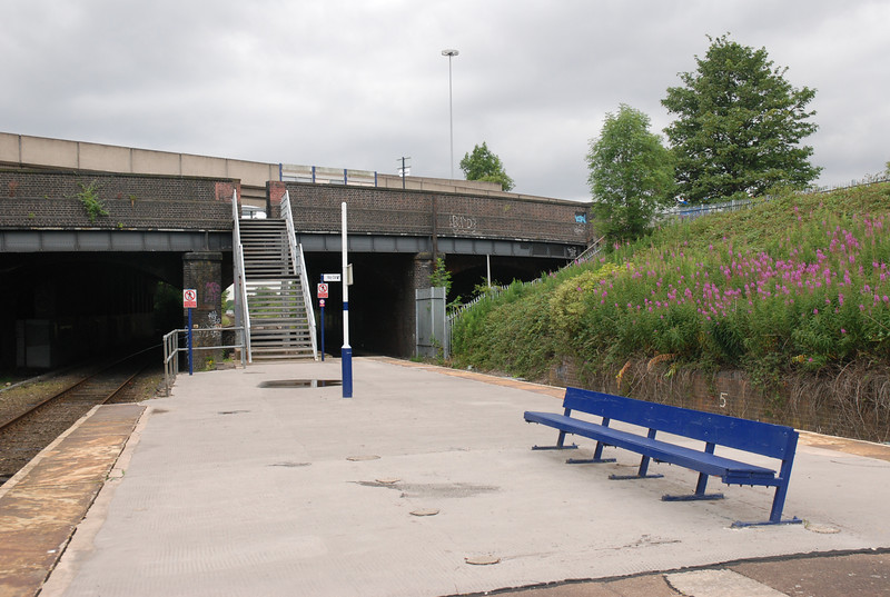 Close up shot of the Exit on to Manchester Road North as you can see <br /> <br /> there isnt much here typical Ghost Station