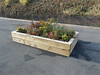 pic by Liz <br /> <br /> close up of the new flower bed boxes on the platform
