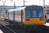 142039 <br /> <br /> sits in the Manchester Bound platform waiting time before heading off to Stalybridge