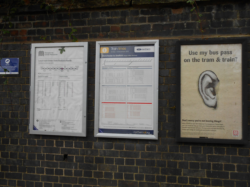 pic by Liz <br /> <br /> plenty of info posters at Reddish North