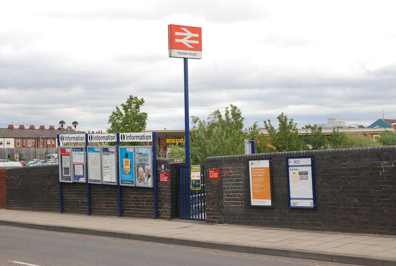 These are the new pictures that i have added so you can see what <br /> <br /> the outside looks like. <br /> <br /> The above picture taken on Reddish Road B6167 shows the Gated <br /> <br /> entrance and the rather large amount of info posters for a station <br /> <br /> that gets only one train a week!!!