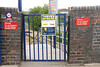 The gated entrance to Reddish South