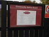 pic by Liz <br /> <br /> Reddish South now has a community notice board on the fence