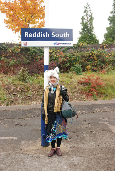 Reddish South <br /> <br /> Return visit for me new Station for Liz  <br /> <br /> yet again another first for Liz compare her pics with the originals that <br /> <br /> i took way back in 2006 & July 2011 <br /> <br /> Liz was like 'whoo this is certainly different to Reddish North'<br /> <br /> Station # 12 in book for Liz
