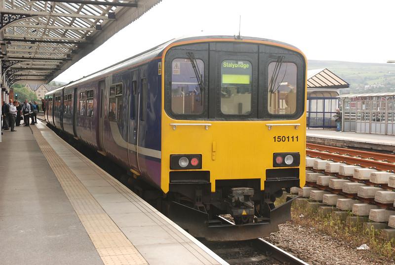 150111<br /> <br /> Location: Stalybridge <br /> <br /> Date 3rd Aug 2012 <br /> <br /> Working: 2J45 09.22 Stockport - Stalybridge <br /> <br /> Journeys end Stalybridge