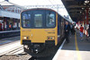 150145 + 142011 <br /> <br /> Location<br /> <br />  Platform 3 <br /> <br /> Stockport <br /> <br /> Date: <br /> <br /> 3rd June 2011 <br /> <br /> working <br /> <br /> 2J45 09.22 Stockport - Stalybridge<br /> <br /> Bang up to date now with June 2011:<br /> <br /> The Stalybridge Parly move was every time i've done it over the <br /> <br /> years always went from the Bay platform 3A at Stockport but when i <br /> <br /> went back to do it for the first time in years in 2011 it came into the <br /> <br /> mainline platform. Anyway including me there where about 7 people <br /> <br /> on this when we departed Stockport