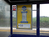 picture by Liz <br /> <br /> The usual information poster of how to check train times <br /> <br /> weird thing here was that there was no useful information poster telling you about travel further afield etc they had the usual timetable posters here
