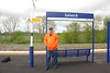 Picture by Liz <br /> <br /> Ghost Station Man<br /> <br /> 2nd visit to station # 15  <br /> <br /> Posses by the Salwick sign