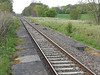 picture by Liz <br /> <br /> Shot looking from across the Platform at the Preston bound platform <br /> <br /> looking towards Blackpool