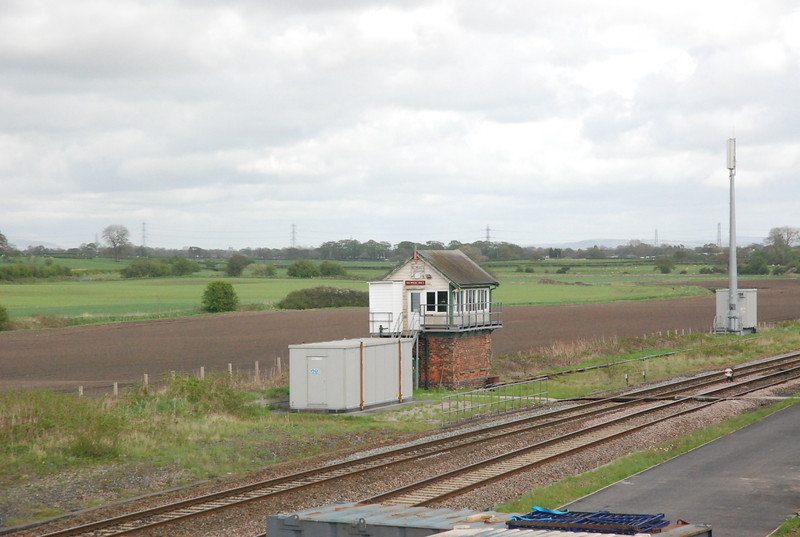 Salwick Signal Box looking towards Preston