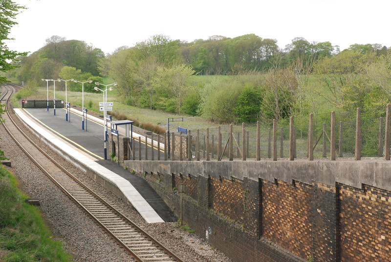 Shot taken from the Road looking down on the Blackpool bound Platform