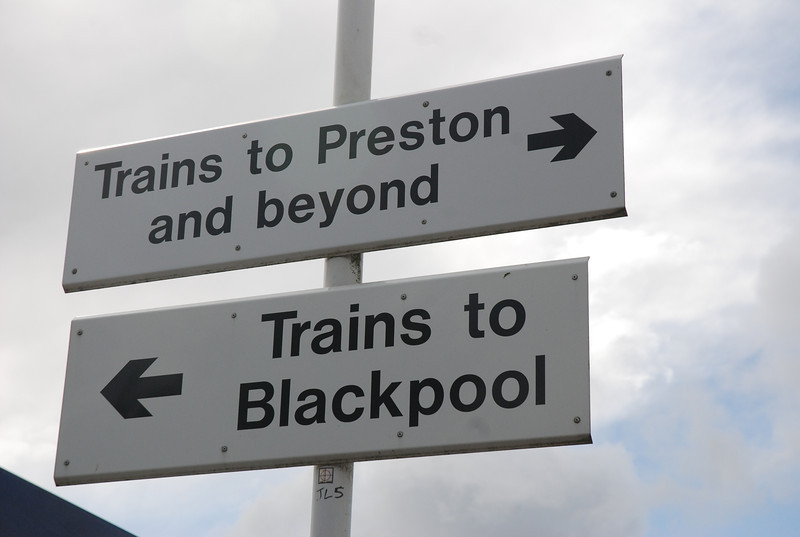 You even get the luxury of signs saying which platform is which
